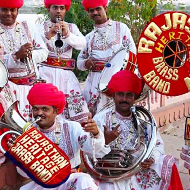 The Rajasthan Heritage Brass Band to perform at Wychwood Festival 2017.