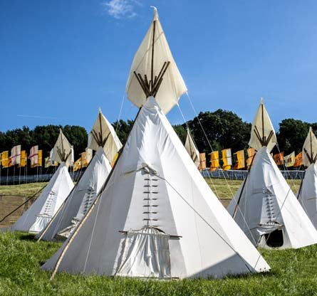 Hearthworks Tipis available for Wychwood Festival.