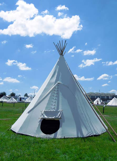 Hearthworks Tipi available for Wychwood Festival.