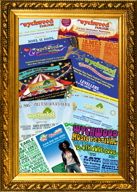 Wychwood Festival posters through the years.