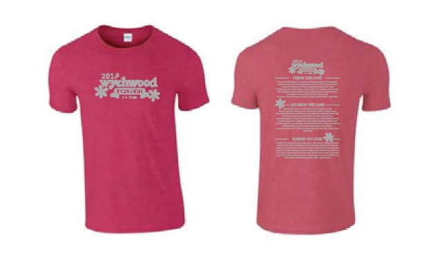 Wychwood Festival 2017 Adult T-Shirt in red.